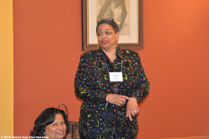 Pamm McNeil at Haramabee House at Wellesley College - April 9, 2016