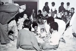 Wellesley College students at Harambee House in days past