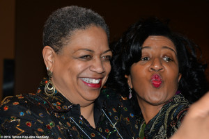 Pamm McNeil and Sonia Robena Banks at Wellesley College Harambee House 45th Anniversary-April 9, 2016