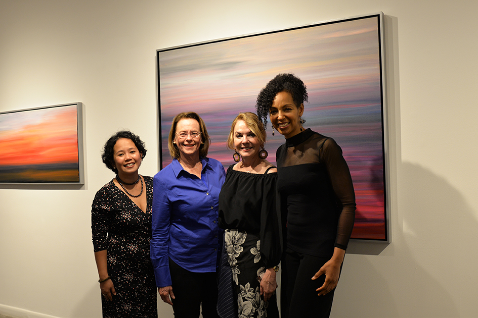 Analisa Balares, Ann Moore, Gay Gaddis and Teresa Kay-Aba Kennedy at The Curator Gallery, May 3, 2016