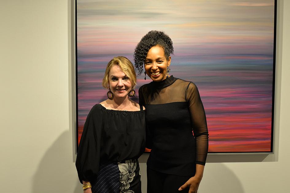 Gay Gaddis and Teresa Kay-Aba Kennedy at The Curator Gallery, May 3, 2016