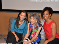 Wendy Diamond, 97-year-old yoga master Tao Porchon-Lynch and Teresa Kay-Aba Kennedy at CORE Club in New York - July 20, 2016