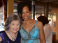 Yoga Master Tao Porchon-Lynch and Teresa Kay-Aba Kennedy at Tao's 98th Birthday Party - August 7, 2016