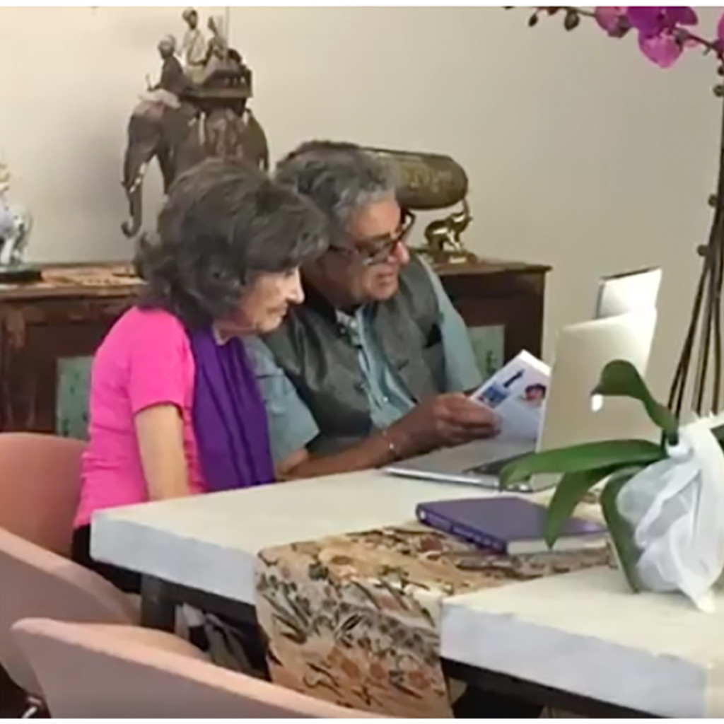 Dr. Deepak Chopra and 98-year-old yoga master Tao Porchon-Lynch - November 13, 2016