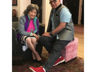 98-year-old yoga master Tao Porchon-Lynch and Dr. Deepak Chopra - November 13, 2016