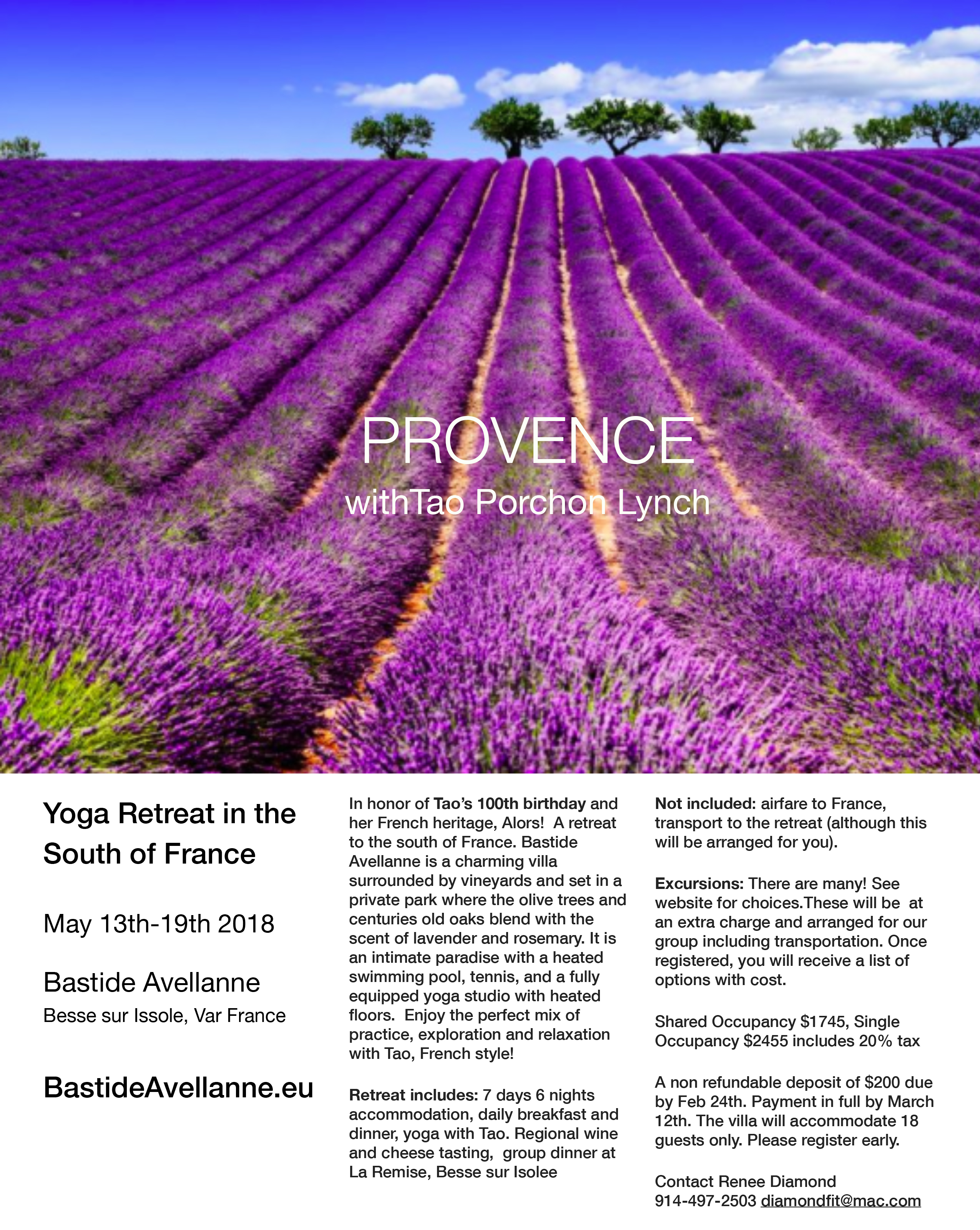 Provence with Tao Porchon Lynch