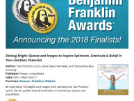 Shining Bright is a Finalist in the 30th Annual IBPA Benjamin Franklin Awards.